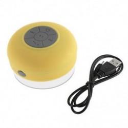 Sárga Új vízálló Bluetooth vezeték nélküli hangszóró kihangosító mikrofon Mic szívó autó zuhany