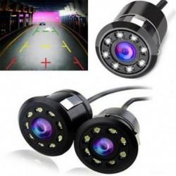 Vízálló 8 LED-es autós biztonsági másolat hátsó nézet Fordított parkoló HD kamera éjszakai látáskamera