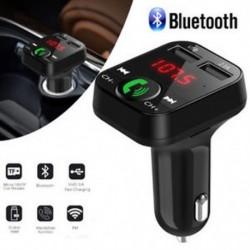 Autós készlet Kihangosító vezeték nélküli Bluetooth FM-adó MP3 lejátszó USB töltő LCD