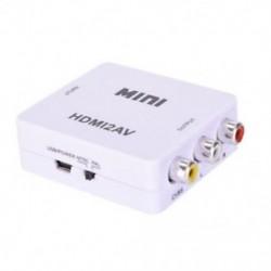 fehér 1080P HDMI-RCA AV / CVBS adapter HD Mini HDMI2AV videó átalakító TV-hez