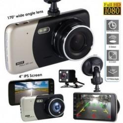 4`` HD 1080P Dual Lens fényképezőgép autós DVR jármű videó műszerfal felvevő G-érzékelő
