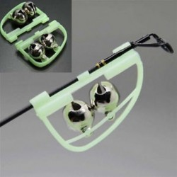 2 X Éjszakai horgászbot Tipphal Bite riasztás riasztó csipesz Bells Ring Glow Accessory