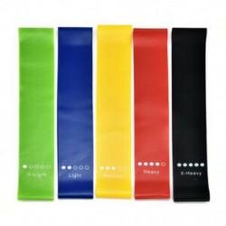 ALL 5 szín Ellenállási sávok Gumi edző hurok rugalmas rugalmas nyújtás Fitness kar láb