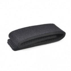Fekete Új elasztikus horgászbot nyakkendő pánt öv csatolás szalag pólus tartó tartozékok
