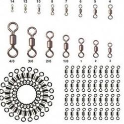 * 4 100db-os sok halászati hordócsapágy forgatható rozsdamentes acél szilárd gyűrű csatlakozó