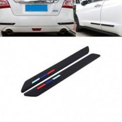 Autó fekete gumi elülső   hátsó lökhárító karcolásvédő csík sarokvédő matrica