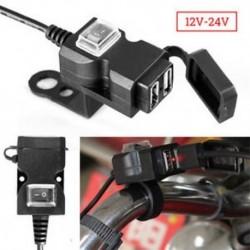 Vízálló 12V-os kétkerekű USB-motorkerékpár-fogantyú-töltő aljzat w / kapcsoló és rögzítők