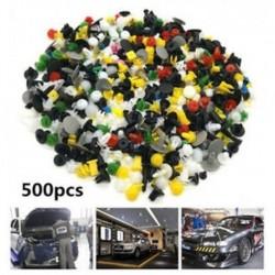 500db vegyes rögzítő lökhárító sárvédő panel klipek műanyag szegecs rögzítők autóhoz