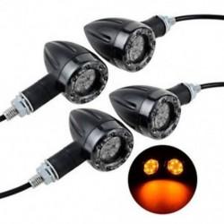 4 X Kerékpár motorkerékpár LED borostyánsugaras jelzőfény villogó jelzőfény Univerzális izzó