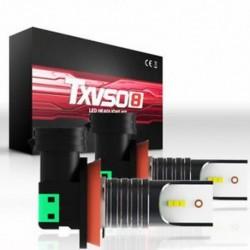 * 2 H8 H9 H11 (50W) 9005 9006 H4 H7 H8 / H9 / H11 COB 6000K autós LED fényszórókészlet