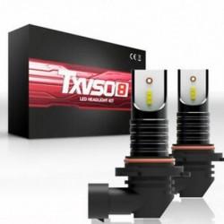 * 2 M9006 HB4 (50W) 9005 9006 H4 H7 H8 / H9 / H11 COB 6000K autós LED fényszórókészlet