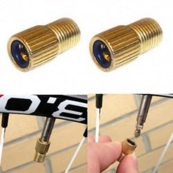 2db Presta a Schrader szelep adapter átalakítóhoz Kerékpár kerékpár gumiabroncs cső szivattyú