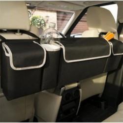 Fekete nagykapacitású többcélú autószék hátsó szervező táska belső kiegészítők