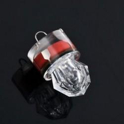 Piros LED mélycsepp víz alatti gyémánt vaku halászati fény Squid Strobe Bait Lure ÚJ