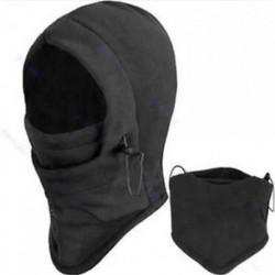 * 2 Fekete Kültéri szélálló sí motorkerékpár kerékpározás balaclava teljes arc maszk kalap nyak sál