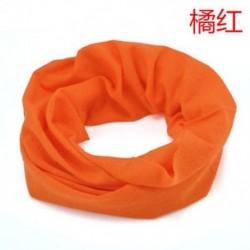 narancs Cső sál Bandana fej arc maszk nyak Gaiter Snood fejfedők Beanie szilárd színek