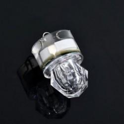 fehér Mini LED mélycsepp víz alatti gyémánt flash halászati könnyű tintahal strobe bait csalit