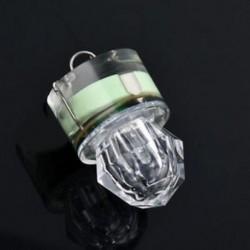Zöld Mini LED mélycsepp víz alatti gyémánt flash halászati könnyű tintahal strobe bait csalit