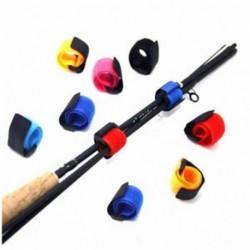 10x újrafelhasználható horgászrúd nyakkendő tartó szíj rögzítő nyakkendő halászati kiegészítők készlet