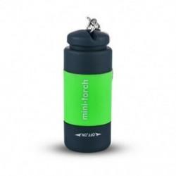 Zöld Mini USB újratölthető LED fénylámpa lámpa zseb kulcstartó vízálló