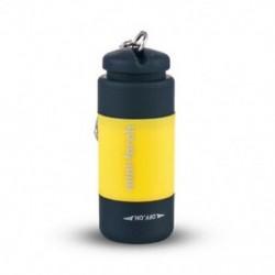 Sárga 1db USB újratölthető LED-es villanófényű lámpa zsebkulcs kulcstartó vízálló