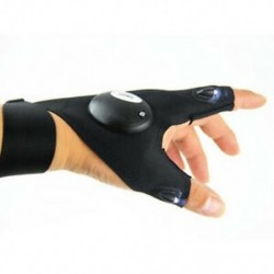 Bal kéz Automatikus LED-es villámlámpa villogó kesztyű szabadban Villanyszerelő javítási munkák