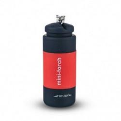 Piros 1PC újratölthető USB LED-es zseblámpa zseblámpa könnyű lámpa zseb kulcstartó gyűrű