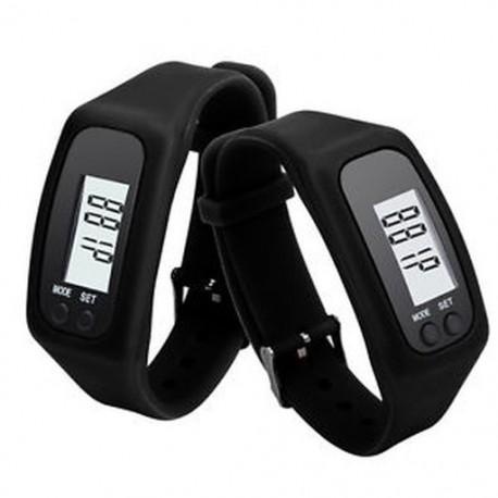 Fekete Digitális LCD lépésszámláló kalória számláló séta..