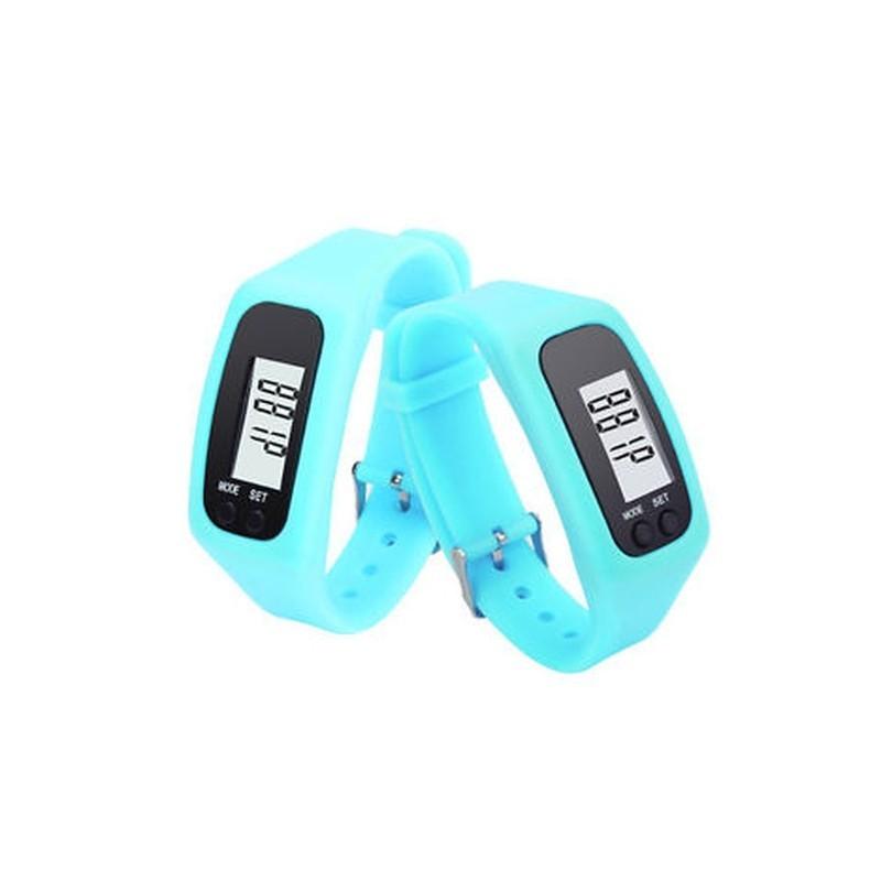 Kék Digitális LCD lépésszámláló kalória számláló séta..