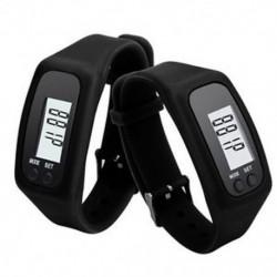 Fekete Digitális LCD karóra karkötő lépésszámláló kalória számláló futtatása lépés séta távolság