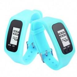 Kék Digitális LCD karóra karkötő lépésszámláló kalória számláló futtatása lépés séta távolság