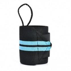 Kék Súlyemelő sávos pántok Csomagolva tornaterem Testépítő csuklótámogatás kötés térdcsomagolás