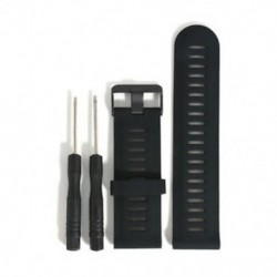 Fekete HOT Quick Replacement szilikagél telepítése sávszíj a Garmin Fenix 5X GPS Watchhez