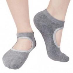 Szürke Női pamut jóga masszírozó zokni Barre zokni csúszásmentes skid Barre Pilates balett
