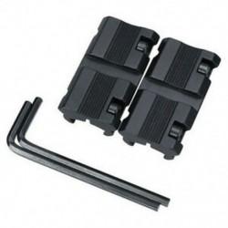 1 pár fekete Picatinny 11 mm-es illeszkedés 7/8 &quot 20 mm-es szövőhuzal adapterhez
