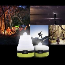 Mini hordozható összecsukható szilikon kempinglámpa LED sátor lámpa lámpa USB töltés