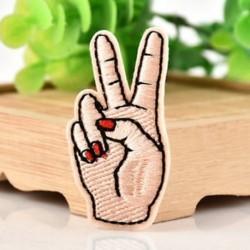 1Pc Béke Kéz Hímzett varrott vasalat a javításokhoz Jelvényes kalap táska DIY szövetbevonat