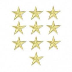 10PCS Gold Star Hímzett varrott vasalat a javításokhoz Jelvényes kalap táska DIY szövetbevonat