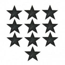 10PCS Black Star Hímzett varrott vasalat a javításokhoz Jelvényes kalap táska DIY szövetbevonat