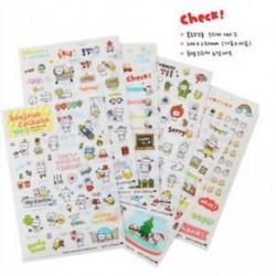 * 1 6 Lapok / készlet Hot Calendar Scrapbook Album naplókönyv Decor DIY papír tervező matrica kézműves