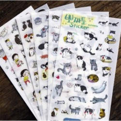 * 2 6 Lapok / készlet Hot Calendar Scrapbook Album naplókönyv Decor DIY papír tervező matrica kézműves