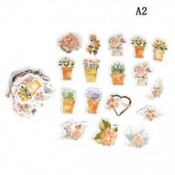 A2 (45Pcs / készlet) Hot Calendar Scrapbook Album naplókönyv Decor DIY papír tervező matrica kézműves