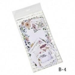B-4 45Pcs / Set Hot Calendar Scrapbook Album naplókönyv Decor DIY papír tervező matrica kézműves
