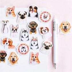 45db aranyos kutya Hot Calendar Scrapbook Album naplókönyv Decor DIY papír tervező matrica kézműves