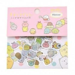 Rózsaszín 80Pcs Japán Sumikko Gurashi matricák Napló Dekoratív kézműves DIY Scrapbooking