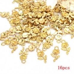 Arany Rengeteg 16db tibeti ezüst rózsa virágfüggöny medál gyöngyök ékszerkészítés kézműves