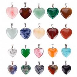 20 darab Szív alakú kő medál Chakra gyöngy DIY hobbi karkötő nyaklánc fülbevaló kiegészítő