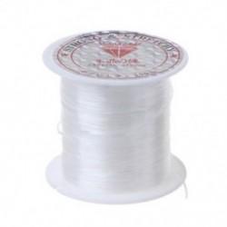 Egyértelmű Elasztikus 1 tekercs gyöngyfűző szál rugalmas poliészter kábel húr ékszer készítéséhez