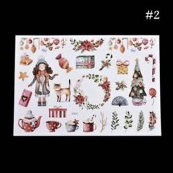 * 2 Karácsonyi Elk / Hóember / Santa Claus Uncut matricák DIY tervező napló album dekoráció