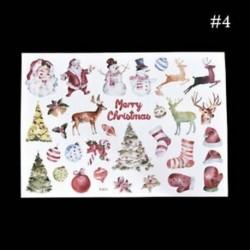 * 4 Karácsonyi Elk / Hóember / Santa Claus Uncut matricák DIY tervező napló album dekoráció